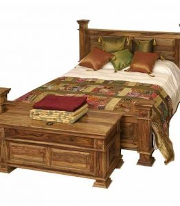 wooden sheesham bed